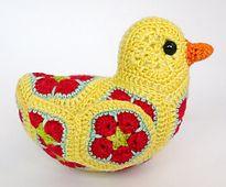 Ravelry: Bluebird of Happiness African Flower Crochet Pattern pattern by Heidi Bears