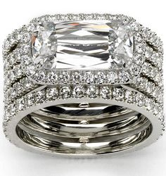 Ashoka five row trellis ring in diamond/platinum | More here: http://mylusciouslife.com/photo-galleries/bling-fling/