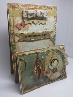 Stepper card using Santoro Mirabelle Collection by PinkGooseCraftHouse