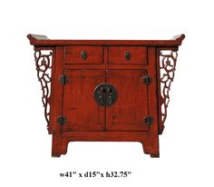 $1340 Chinese Altar Console Table with Dragon Apron - Golden Lotus Antiques