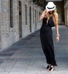 Edurne of Rebel Attitudes in our black maxi dress