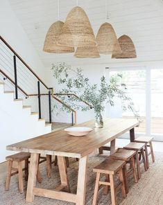 Large Farmhouse Table For Dining Room Big Family 26 Kitchen Lighting Over Table, Kitchen Table Bench, Dining Room Table, Dining Room Furniture, Farmhouse Table, Dining Area, Small Dining, Wooden Furniture, Rustic Farmhouse