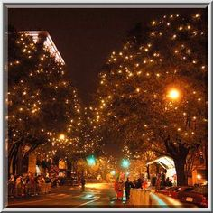 Downtown Athens lights!