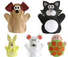 FANTOCHE ANIMAIS DOMÉSTICOS - Abracadabra Fantoches ITENS: 5 FANTOCHES ( gato, cachorro, tartaruga, rato e coelho). DESCRIÇÃO: Fantoches com o tema animais domésticos e de estimação. MATERIAL: Feltro e linha. DIMENSÕES: 24 x 35 cm, em média cada. EMBALAGEM: Saco de celofane transparente fechado com adesivo. DETALHES: 100% de costura à máquina. Pode haver variação de tons e cores. PRAZO DE ENVIO: até 10 dias úteis para 1 UNIDADE. ATENÇÃO: Para mais de 1 produto ou mais de 1 unidade, ...