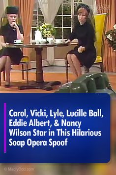 """This hilarious """"Carol Burnett Show"""" sketch pokes fun at all the ridiculous premises you find in soap operas. In a town where only funerals happen, how do two ladies get to all of them? Harvey Korman, Comedian Videos, Nancy Wilson, Carol Burnett, Classic Comedies, Lucille Ball, Classic Tv, The Good Old Days, Laughing So Hard"""