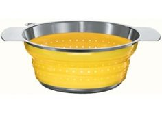 "Rosle Yellow 10"" Collapsible Colander - 16129 $40"