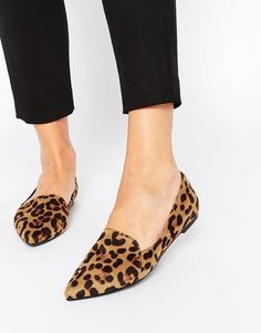 Image 1 of ASOS LIVE A LITTLE Pointed Ballet Flats