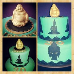 Buddha fondant cake. Made by Cakedeluxe