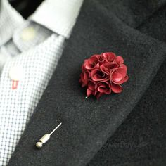 Satin mini bouquet Men's Flower Boutonniere / Buttonhole For Wedding,Lapel Pin,Tie Pin  Gorgeous and Beautiful Men's flower Boutonniere/Buttonhole for wedding,Lapel pin,hat pin,tie pin.  Handmade flower in our studio.  Great quality Stick pin with cover cap made in Korea.  ♥ Size or Measur...