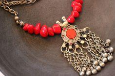 Afghan Kuchi Tribal Pendant Necklace