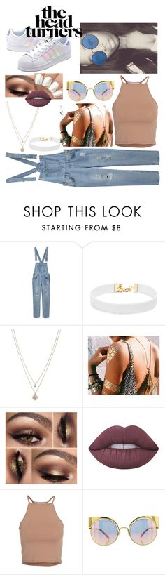 """""""What a mess"""" by charlie567 ❤ liked on Polyvore featuring Vanessa Mooney, LC Lauren Conrad, Lime Crime, NLY Trend, Fendi and adidas Originals"""