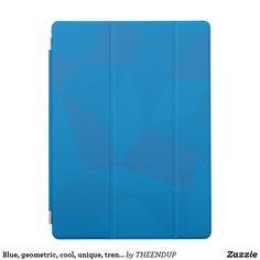 Blue, geometric, cool, unique, trendy illustration iPad pro cover