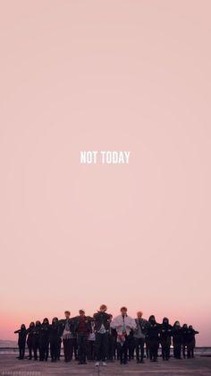 Wallpaper BTS NOT TODAY