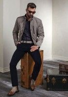 stylish gray jacket and navy pants   Men: How To Look Effortlessly Stylish   www.divinestyle.co