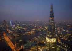 Dusk over London, with The Shard in the foreground. © Jason Hawkes