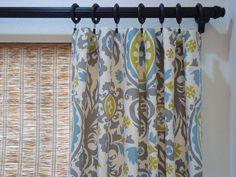 Suzani Custom Curtain Panels Summerland by CreativeTouchDecor, $104.95 - family room