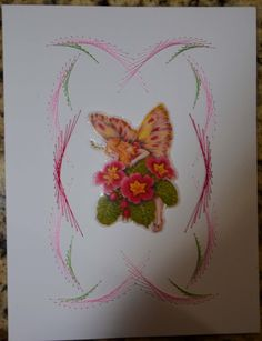 Book: Embroidery on paper for cardmakers by Annie and Nico Heesakkers p 39 pattern 7/2 sulky 942-1276, 942-1533, 942-1108
