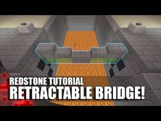 (Xbox Playstation Redstone Tutorial: How to build a Working Bridge that doesn't require you to touch slime blocks! Minecraft Redstone Creations, Minecraft Secrets, Minecraft Building Guide, Minecraft Farm, Easy Minecraft Houses, Minecraft Plans, Minecraft Survival, Minecraft Decorations, Minecraft Construction