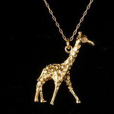 J Crew Giraffe necklace.