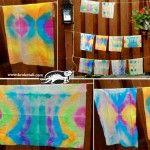 Цветни десени върху хартиени носни кърпички