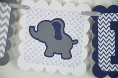 Elephant Baby Banner Baby sign Baby shower sign by lisamarDesigns, $25.00