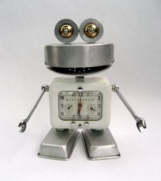 Westinghouse - Robot Assemblage Sculpture by Brian Marshall | by adopt-a-bot