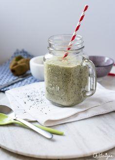 smoothie kiwis, coco et graines de chia - Blog de Châtaigne