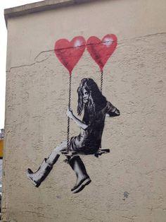 Street Art Hearts - 10 Breathtaking Pieces of Love Street Art | Art and Design