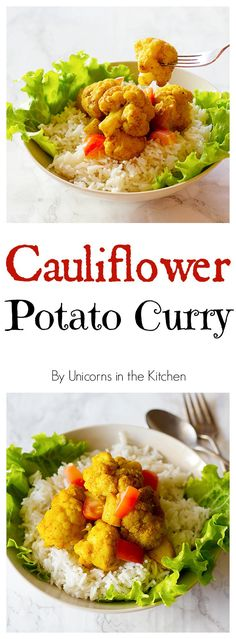 Enjoy a delicious and quick dish that is also healthy! This Cauliflower Potato Curry can be ready in 25 minutes and tastes way better than takeout!
