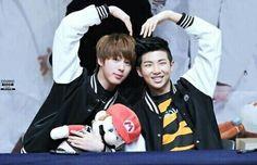 SeokJin (Jin) and Namjoon (rap monster). NAMJIN!!!!!
