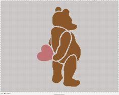 FREE Valentine Bear Baby Blanket Crochet  The Faux Menno: Free Crochet Patterns for Baby #baby #crochet #graphghan #freepattern