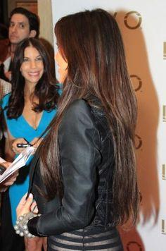 Kim K Long Hair with layers