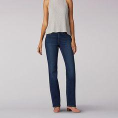 b68c6d59 Lee Women's Modern Series Total Freedom Bootcut Jeans (Size 14 Slim) Jeans  Pants,