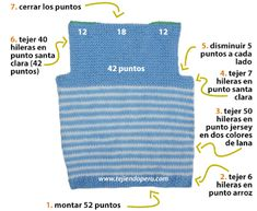 Chaleco con cuello V para niños - Tejiendo Perú Baby Vest, Baby Cardigan, Baby Boy, Crochet For Boys, Crochet Baby, Make Design, Winter Time, Couture, Baby Knitting