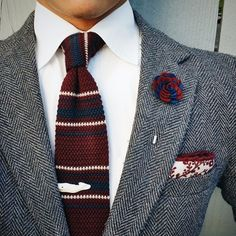 Dapper - Red Grey & White Suit