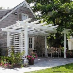 Patio Pergola with Privacy Trellis by Archadeck
