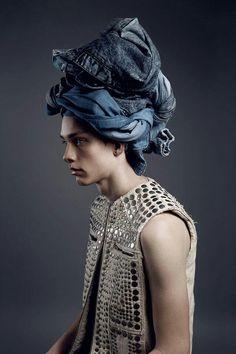 Denim turban