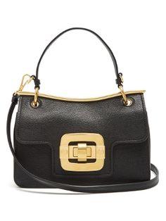 Waved-frame grained-leather shoulder bag | Miu Miu | MATCHESFASHION.COM US