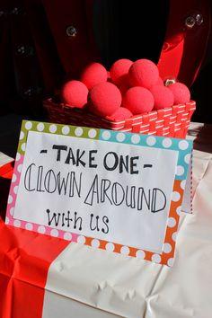 Clown noses: Circarnival Wedding Details | Vintage Circus Carnival Wedding on a Budget | Lola, Tangled Blog