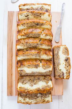 Cream Cheese-Filled Banana Bread?! Brilliant. Bookmark this recipe to make a loaf STAT.