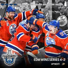 Stanley Cup Playoffs, Edmonton Oilers, Series 4, Nhl, Hockey, Baseball Cards, Sports, Blog, Hs Sports