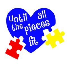 Autism Awareness Until All The Pieces Fit Vinyl by ButtercupLaine