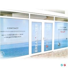 We offer window vinyl printing, design & application using solid or etched vinyl + contra vision (one way vinyl) to indoor + outdoor windows Window Graphics, Dry Cleaning, Cape Town, Indoor Outdoor, Windows, Glass, Prints, Design, Home Decor