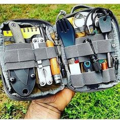 Everyday Carry Pouch - Raven Survival Prep Camping is a superb time to get back to the basics, without distractions. Among the best and most important aspects of camping is how it helps you build and reinforce relationships. Bushcraft Camping, Bushcraft Gear, Kayak Camping, Camping Survival, Camping Hacks, Camping Supplies, Van Camping, Camping Tools, Camping Essentials