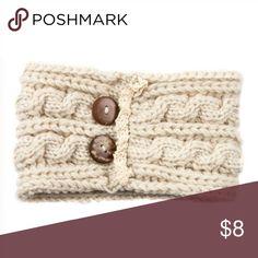Cute headband 🌸 Wood buttoned sweater knit headband 100% acrylic. Super cute, Other