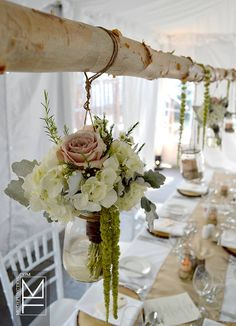 Event decor, flowers, design and styling for Carolyn & Brian's Rustic Tented Wedding at Sherwood Inn, Muskoka 05.04.2013 by Mode Function Event Design Ltd. www.modefunction.com