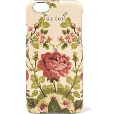 Gucci for NET-A-PORTER Adonis floral-print textured iPhone 6 case ($190) ❤ liked on Polyvore featuring accessories, tech accessories and pink