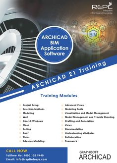 Archicad 21 Training Program in India. We provide Archicad 21 training program a wide variety of training courses/ Modules & You'll learn from industry experts on the latest Archicad technologies. Training Courses, Training Programs, Teamwork, Collaboration, Flexibility, Software, Knowledge, India, Technology