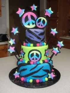 Peace Sign Cake By jescos on CakeCentral.com