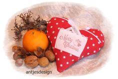 Geldgeschenk Weihnachten Herz Merry Christmas von Antjes Design auf DaWanda.com